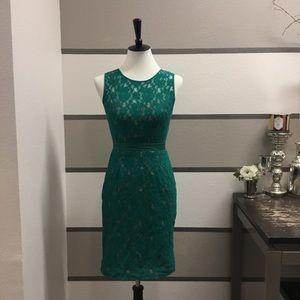 """BCBGMaxAzria-Emerald """"Alice"""" Lace Dress"""